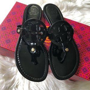 Tory Burch • Black Patent Miller Sandals